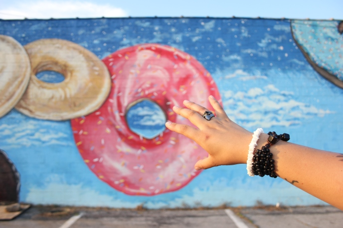 You can't go to Chattanooga without going to the Koch bakery donut mural! Hand modeling by my best friend, Kayla (@katharos2