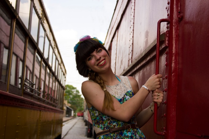 The lovely Tessa Voccola (@tessavoccola) posing between the trains at the Chattanooga Choo Choo. She also wrote a blog about the instameet, you can read it here.